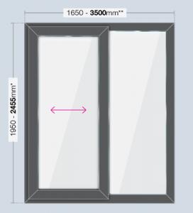 patio door 3500mm x 2455mm