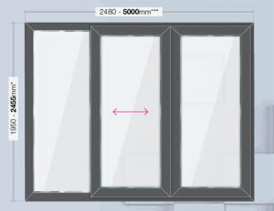 patio door 5000mm x 2455mm