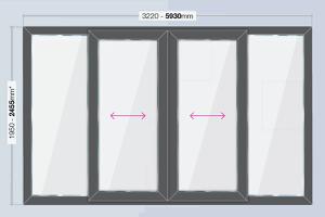 patio door 5930mm x 2455mm